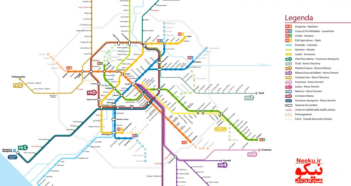 دانلود نقشه مترو رم