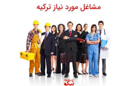 مشاغل مورد نیاز ترکیه